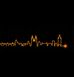 Prague light streak skyline vector