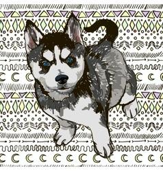 Puppy Husky vector