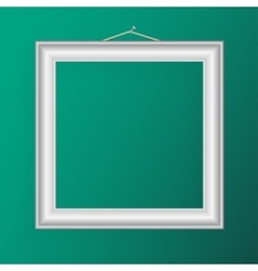 realistic frame for your artwork or photos vector image