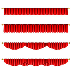 red curtains vector image