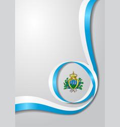 san marino flag wavy background vector image