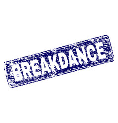 Scratched breakdance framed rounded rectangle vector