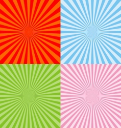 set of radiant backgrounds vector image