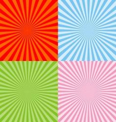 set radiant backgrounds vector image