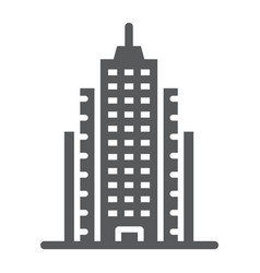 skyscaper glyph icon office and architecture vector image