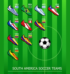 South American soccer teams vector image