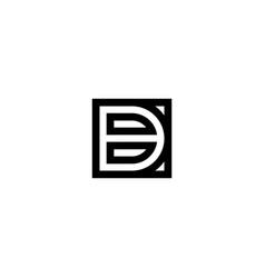 square stripes logo letter b vector image