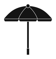 Sun umbrella icon simple style vector