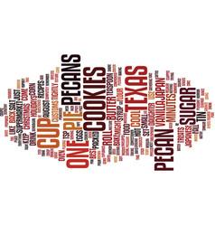 Texas pecan treats text background word cloud vector