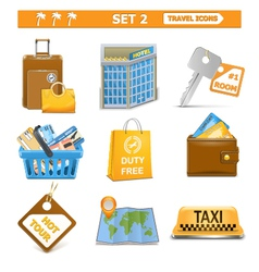 travel icons set 2 vector image