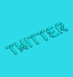 Twitter 3d background vector