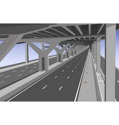 Under toll way vector