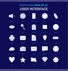 user interface white icon over blue background 25 vector image