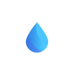 water icon drop logo template company vector image