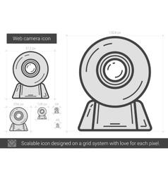 Web camera line icon vector