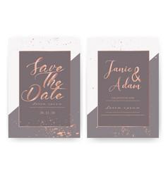 wedding invitation card save the date wedding vector image