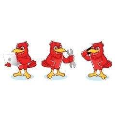 Cardinal Mascot with phone vector image