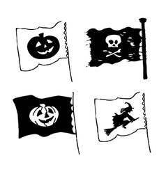Halloween flag designs vector image vector image