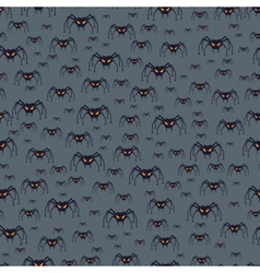 Halloween seamless pattern with spiders vector image