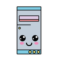 Kawaii cute happy hard drive vector