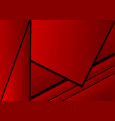 red background abstract square overlap concept vector image vector image