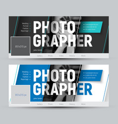 set of banner in the style of material design for vector image
