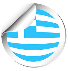 sticker design for flag of greece vector image
