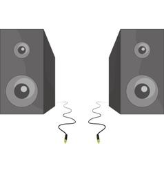 Two black speakers standing beside each vector image