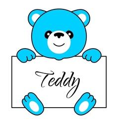Cartoon bear boy vector image