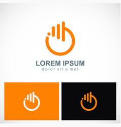 round power button abstract logo vector image