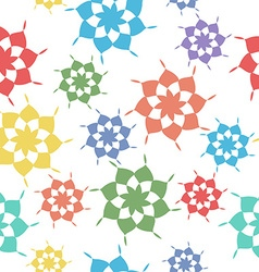 Seamless pattern abstract shapes vector