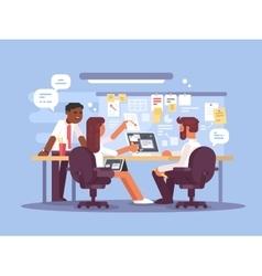 Work schedule working environment vector image
