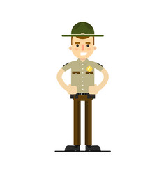 american sheriff in uniform vector image