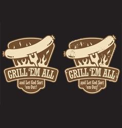 Barbecue emblem vector