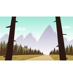 Cartoon mountain landscape vector