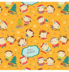 children pattern vector image vector image
