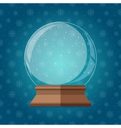 Empty magic snow globe Christmas snowglobe gift vector image