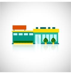 Supermarket icon flat vector image vector image