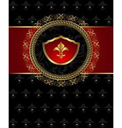 vintage post mark with heraldic elements - vector image