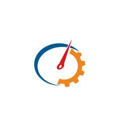 auto gear logo vector image
