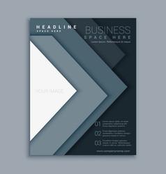 elegant minimal business flyer brochure design vector image vector image