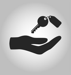 icon hand holding key isolated vector image
