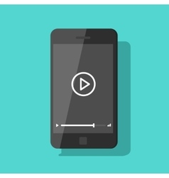 Mobile phone video player smartphone vector image