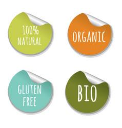 natural labels vector image