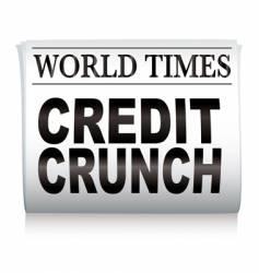 newspaper credit crunch vector image vector image