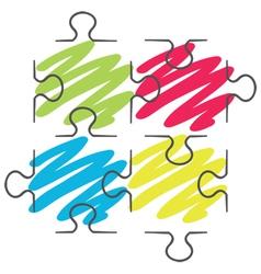 puzzle piece vector image vector image
