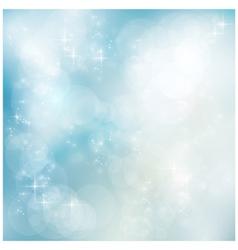 Silver blue winter Christmas bokeh vector image