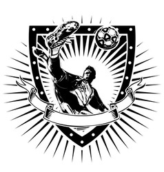 soccer shield vector image vector image