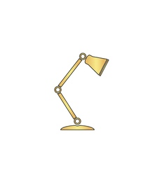 Table lamp computer symbol vector image vector image