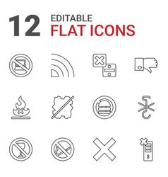 12 no icons vector